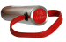 WPRS - Kleine rote Paddel mit Edelstahl-Griff