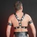 SMB3 - Leder Gladiator Brust Harness