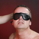 BLB1 - Lined leather blindfold