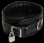 BNB1 - Luxe gevoerde Halsboei - zwart 7cm breed