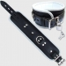 BFW1 - Luxe gevoerde enkelboei - zwart/wit 7cm breed
