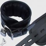 BFB1 - Luxe gevoerde lederen enkelboei - Zwart 7cm breed