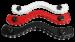 THB1 - Schwarz Leder Hodenfessel