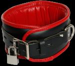 BNR3 - Schwarz/Roter Halsfessel Gepolstert