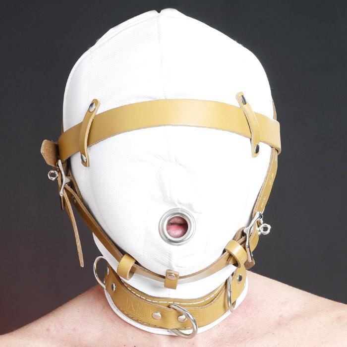Sensory Deprivation Leather Hood - Medical