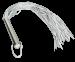 W100-60 - Zware Lederen Zweep met 60 striemen en RVS greep